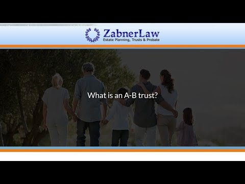 What is an A-B trust?
