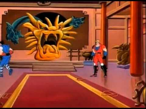 double dragon cartoon intro