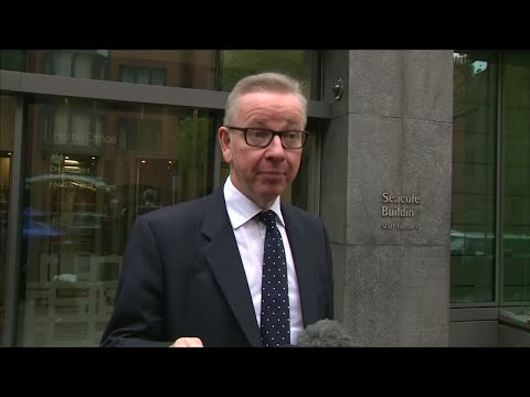 UK's Secretary of State for environment Michael Gove says he