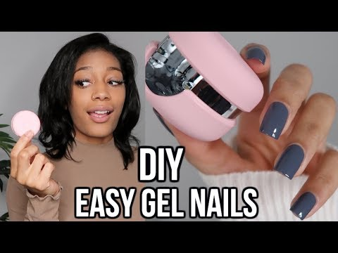 EASY gel nails at home! | Le Mini Macaron!