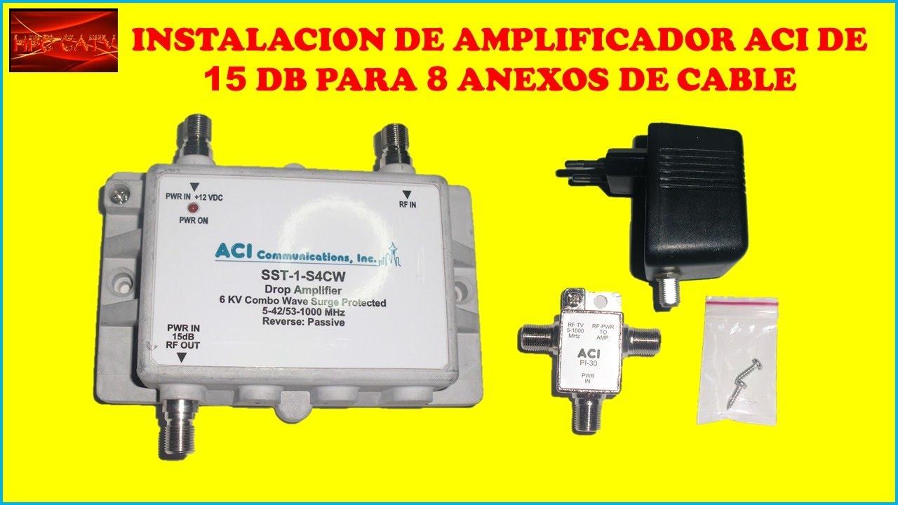 Instalacion de amplificador de se al aci para 8 anexos de for Amplificador tv cable coaxial