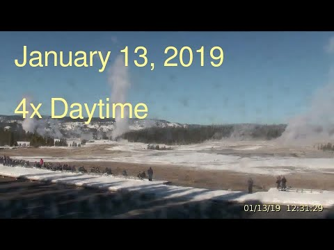 January 13, 2019 Upper Geyser Basin Daytime 4x Streaming Camera Captures