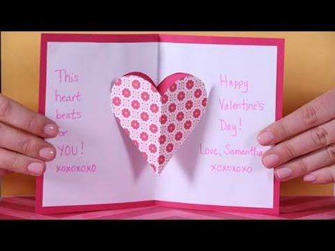 Valentine\u0027s Day Heart Pop-up Card - YouTube