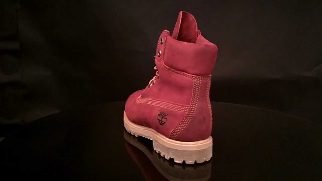 timberland 6 inch rouge