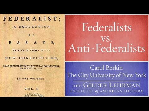 Carol Berkin On Federalists And Antifederalists  Youtube Carol Berkin On Federalists And Antifederalists Research Paper Essay Topics also Example Of An Essay With A Thesis Statement  Narrative Essay Papers