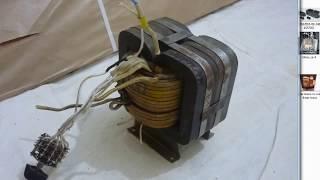 трансформатор для полуавтомата, на броневом магнитопроводе
