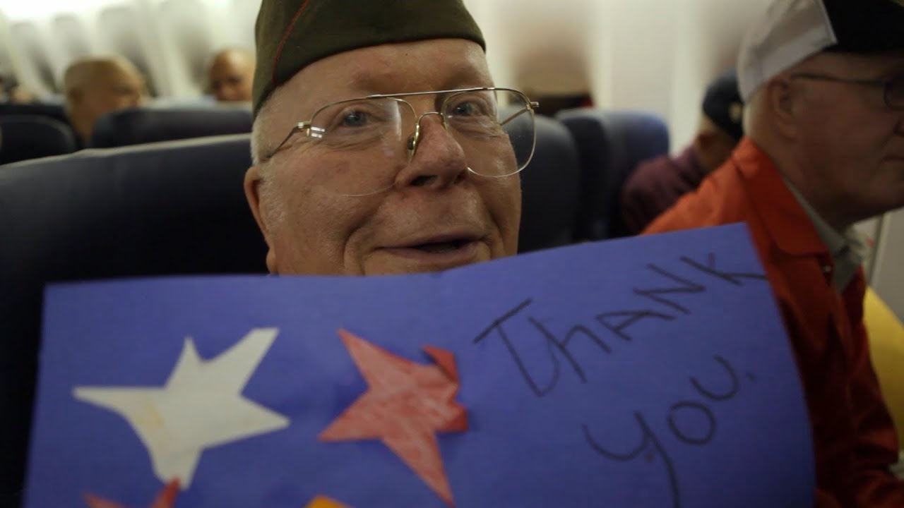 world war ii veterans open surprise thank you letters on their honor