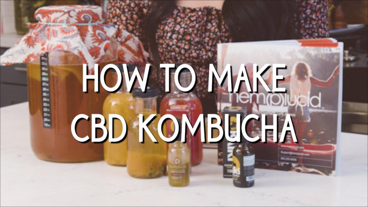 Homemade CBD Kombucha