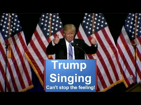 Donald Trump Singing Can't Stop The...