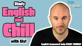 LIVE English Class! English Teacher helps with your Homework!