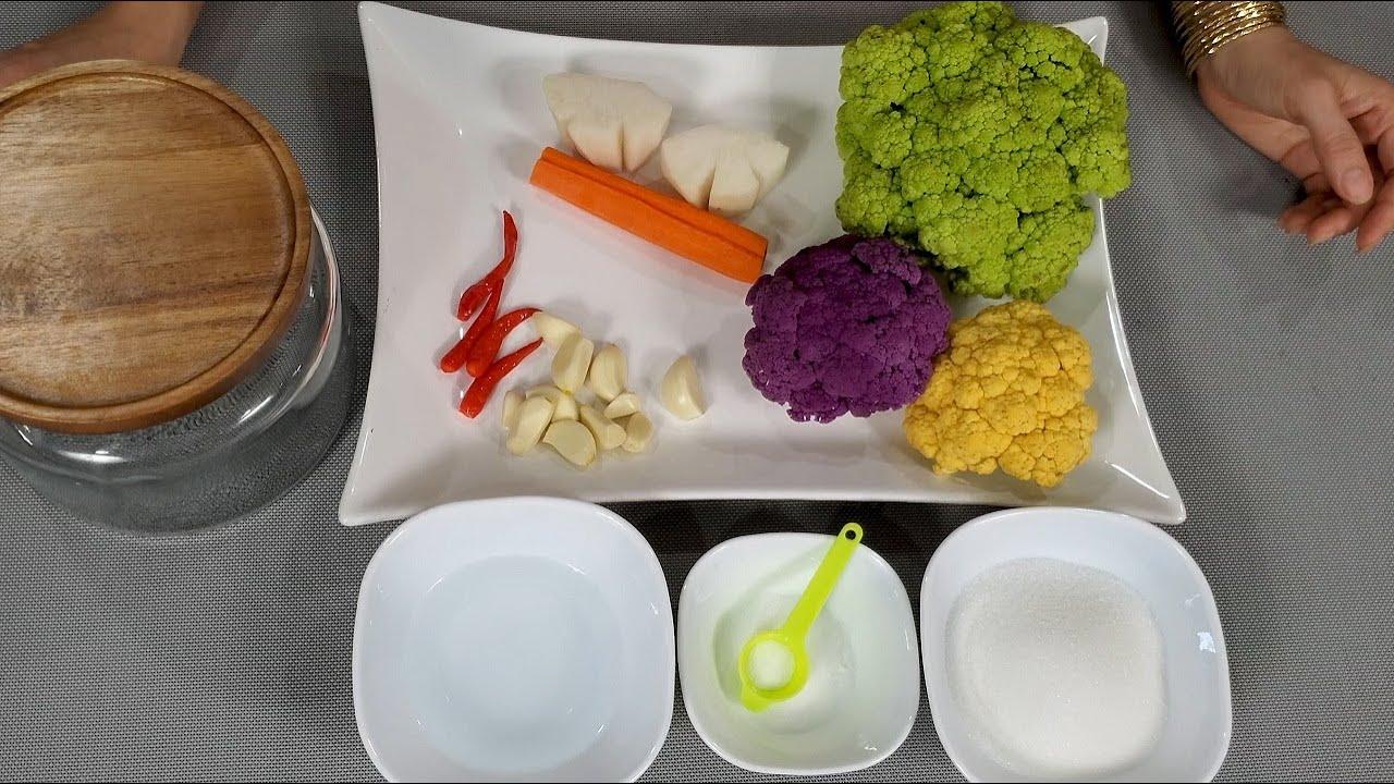 Cách làm bông cải ngâm chua ngọt giòn ngon để được lâu | Delicious sweet & sour cauliflower pickles