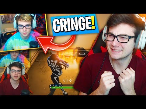 REACTING TO MY *FIRST GAME* ON FORTNITE BATTLE ROYALE! (CRINGE WARNING)
