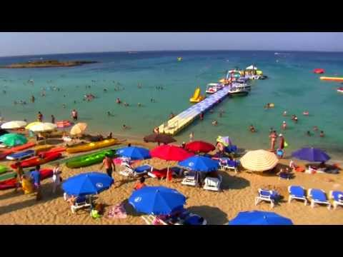 Capo Bay Beach and Sea. Fig Tree Bay. Protaras in Cyprus. Full HD 2012 Video.
