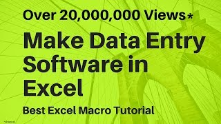 Make Data Entry Software in Excel ✅
