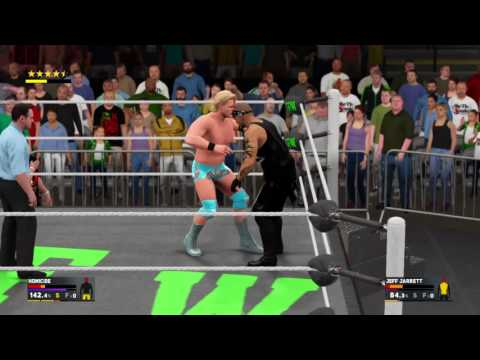WWE 2K17 GFW Impact Jeff Jarrett comes out of retirement pins World Champion Homicide