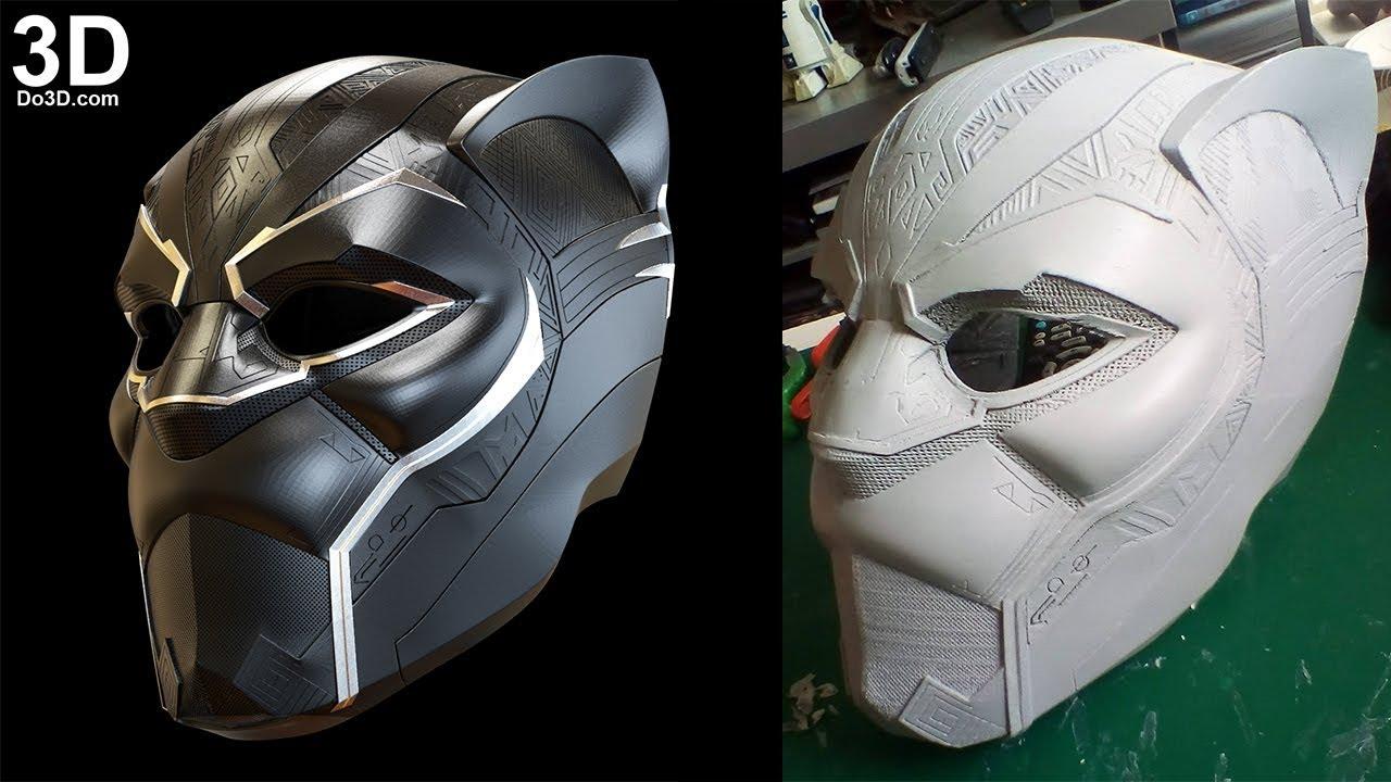 3d printable model black panther 2018 movie helmet mask print file