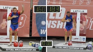 💪 Vladimir Gurov 🏆 Kettlebell sport biathlon in up to 95 kg weight class: 160+183 (Latvia, 2018)