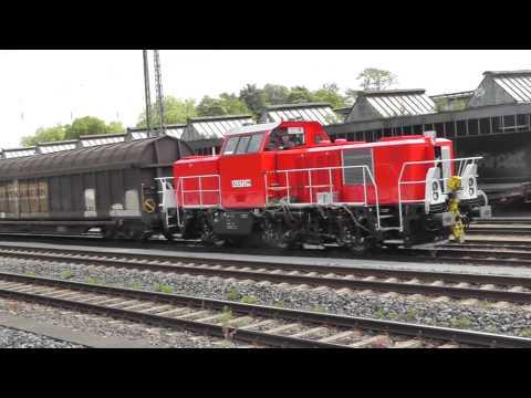 Ein schöner Messzug mit 5 Dieselloks von TÜV Süd machte in Gütersloh Mittagspause