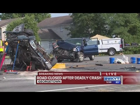 Breaking News:  Busy Georgetown road shut down due to crash