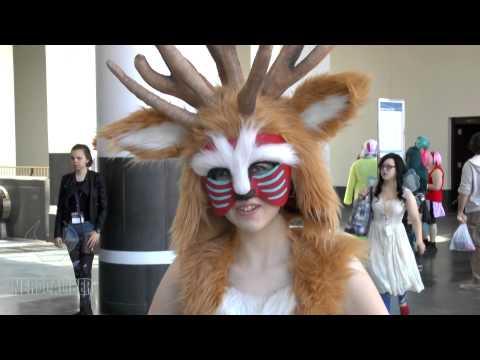 Princess Mononoke Forest Spirit Cosplay At Anime Boston 2014 Youtube