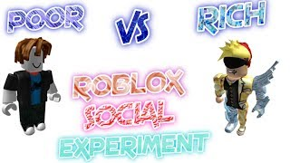 Roblox - Social Experiment Rich Vs Poor