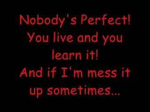 Hannah Montana-Nobody's perfect-lyrics