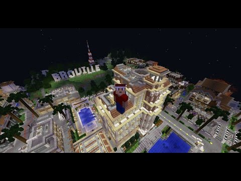 Minecraft | A REALLY WEIRD CITY THAT TOOK OVER 4 YEARS TO MAKE!! | Broville Map Review Part 1