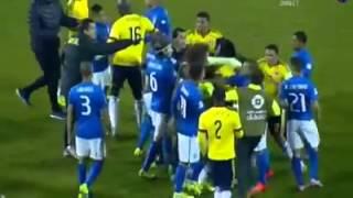 Pelea Colombia vs brasil Coma America chile 2015