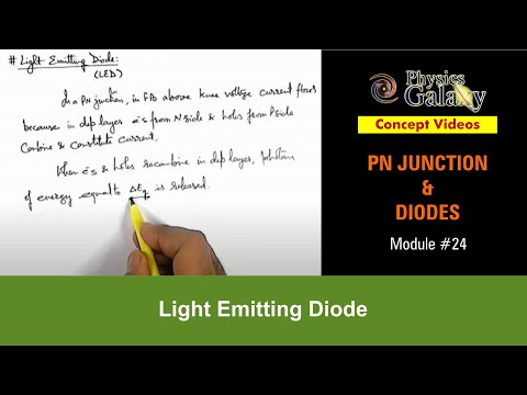 24. Physics | PN Junction & Sem Diodes | Light Emitting Diode | by Ashish Arora