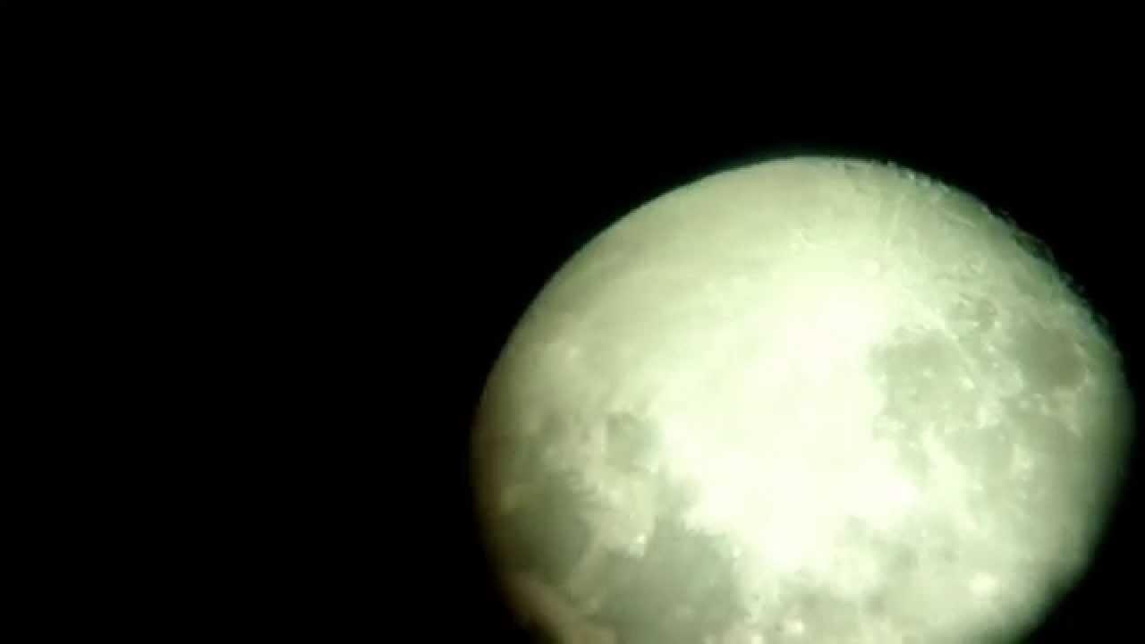 Ksieżyc z mojego teleskopu opticon youtube