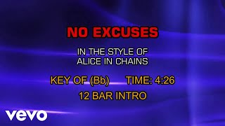 Alice In Chains - No Excuses (Karaoke)