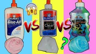 SLIME COLLA ELMERS VINILICA VS COLLA TRASPARENTE VS COLLA GLITTER ELMERS! QUAL E' MEGLIO?