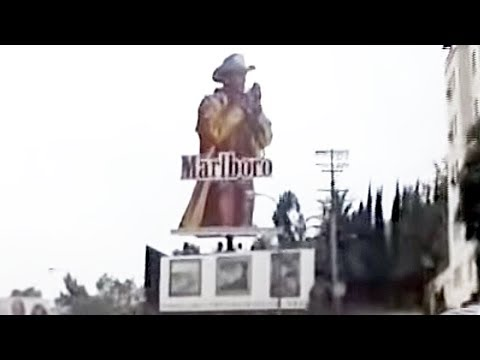 Marlboro Man billboard on Sunset Blvd. 1988-1993