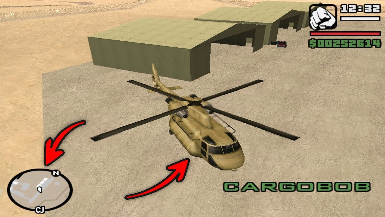 Easy Way To Get Army Helicopter In Gta San Andreas Youtube