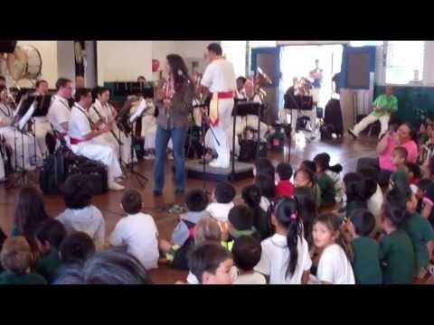"Stacie Caires ""Ha'a Hula"" w/ The Royal Hawaiian Band at Fern Elementary School"