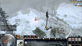 Company of Heroes 2 - 2v2 on Moscow Outskirts Frontline Map gameplay