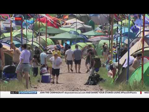 Glastonbury bans all single use plastic bottles in 2019 (UK) - Sky News - 28th February 2019 Mp3