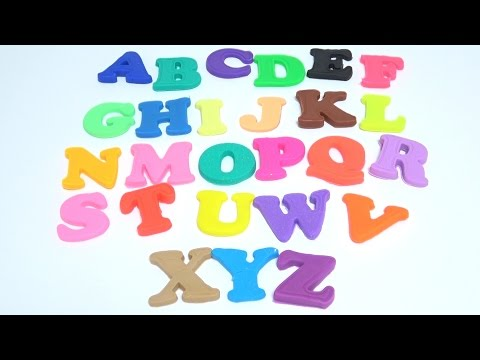 Learn Alphabet ABC with Color Play Doh Modelling Clay Finger Family Nursery Rhymes For Kids