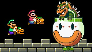 Super Mario Bros. X (SMBX 1.4.5) - SMW Bowser Fight (2 Players). ᴴᴰ