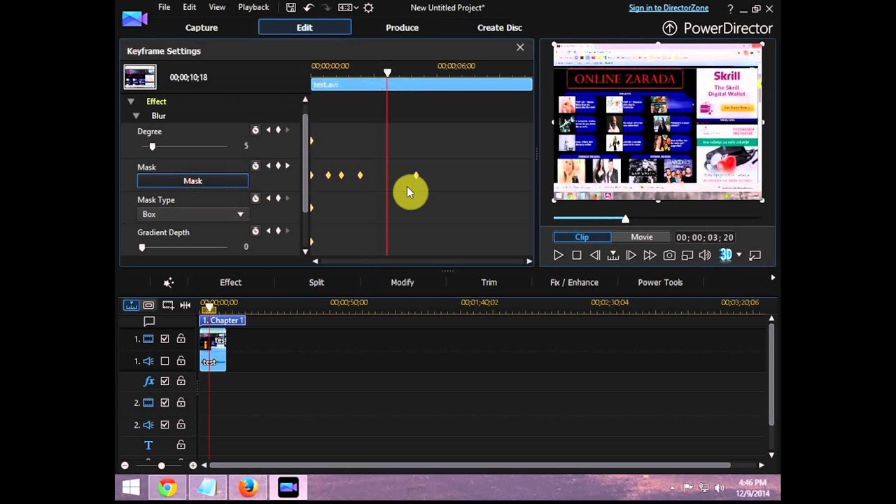 PowerDirector also can write and produce 3D videos There are effects and changes for 3D videos which will work with 3D seamlessly videos. There was also an alternative of converting any video clip you must significantly 3D which works fine.