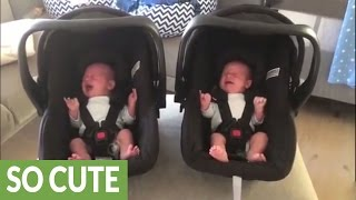 Identical twin babies cry in exact same manner