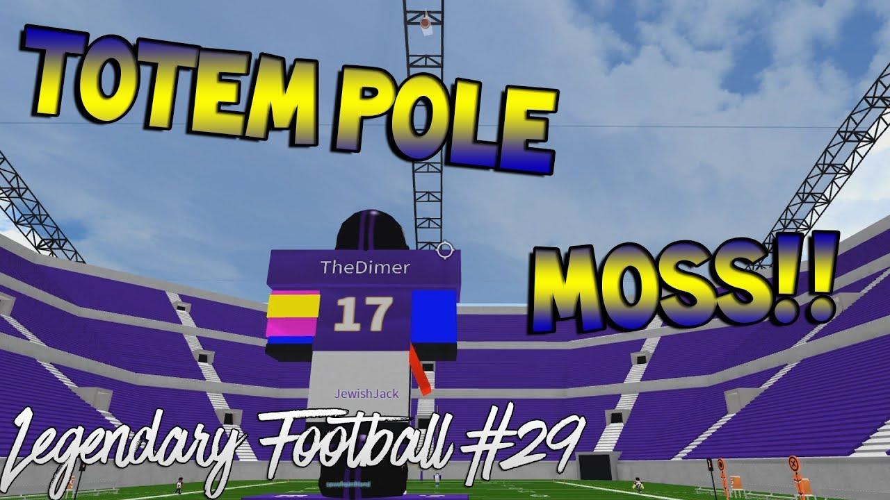 Totem Pole Moss Legendary Football Funny Moments 29 Youtube