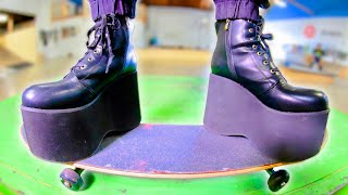 THE WORLD'S MOST DANGEROUS SKATE SHOES | EXTREMELY STUPID SKATE EP.17