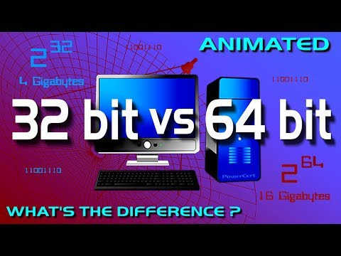 32 bit vs 64 bit - YouTube