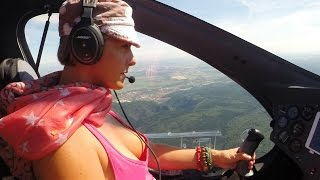 Gyrocopter Girl Flight Germany via Czech Republic Slovakia to Hungary