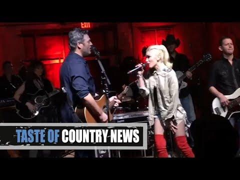Blake Shelton, Gwen Stefani Surprise Hometown Crowd