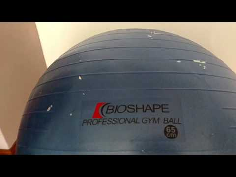 Bola para cinesioterapia azul 65cm Bioshape