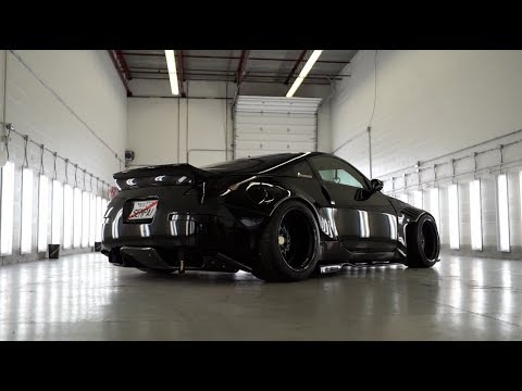 BLACKED OUT Rocketbunny 350z // ClearFx By RestorFX