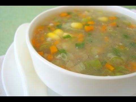 Healthy Sweet Corn Vegetable Soup -Diet Recipe