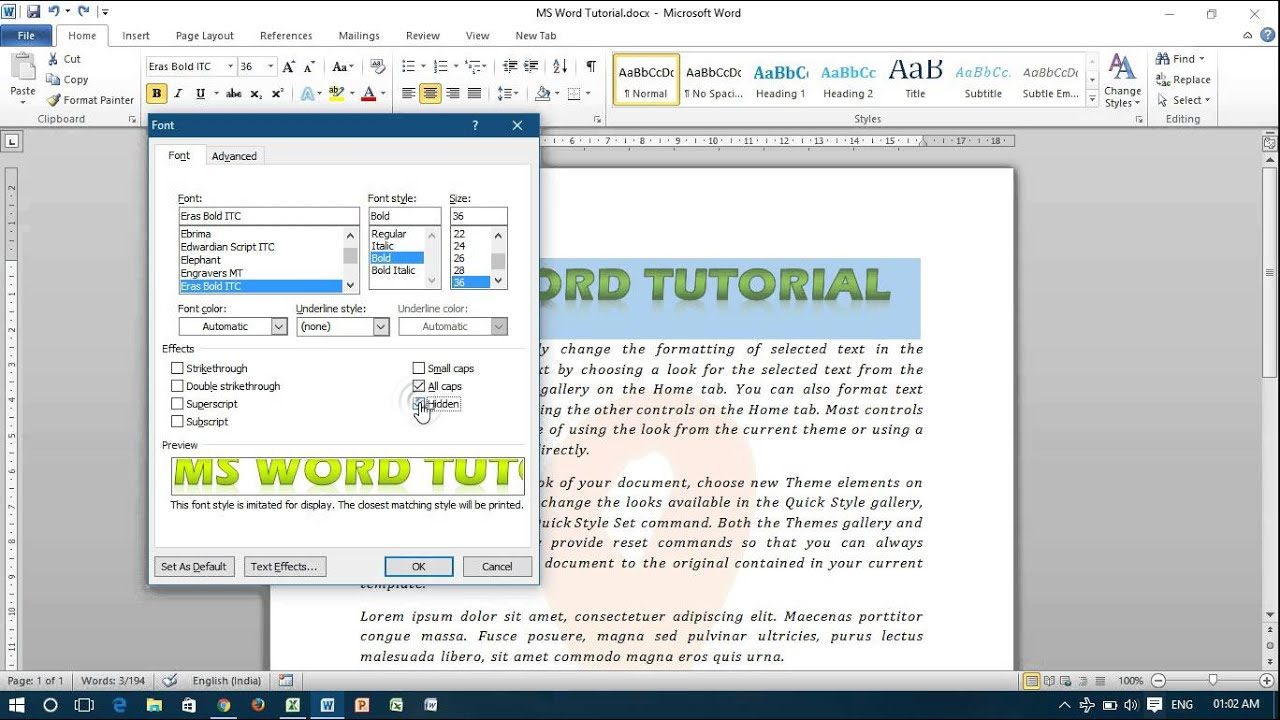 Basic Formatting In Microsoft Word Intermediate Users To